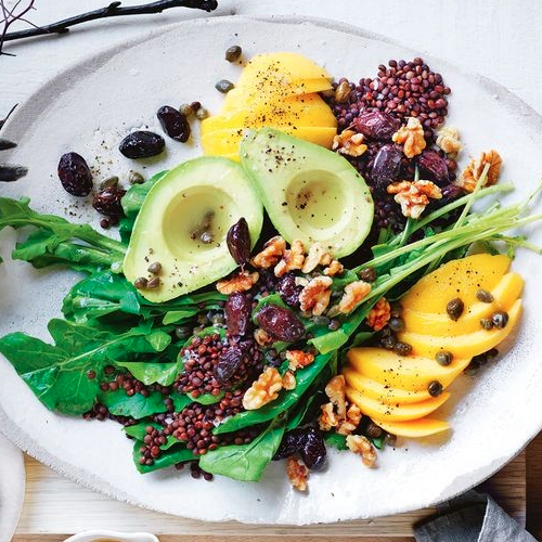 MANGO, AVOCADO AND BLACK LENTIL SALAD